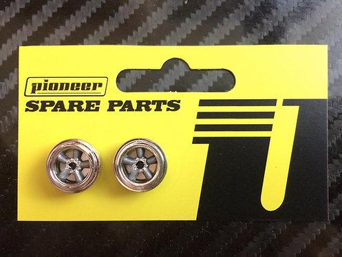 Pioneer American Racing Torq Thrust Front Wheels - Chrome/Dark Silver