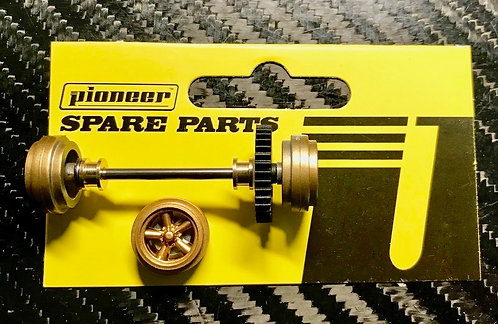 Pioneer Street Car Rear Axle Assembly - All Gold