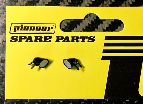 Pioneer Black Door Mirrors for Legends Racers