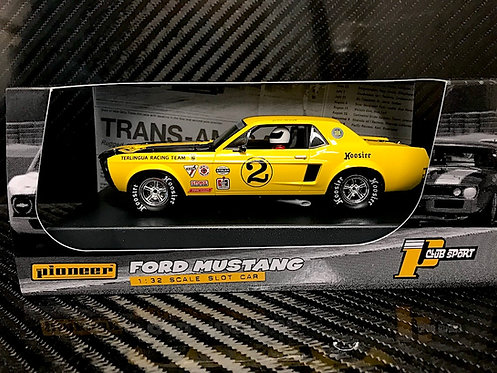 P069 Pioneer 1968 Trans-Am Mustang, Yellow #2, 'John Atwell'