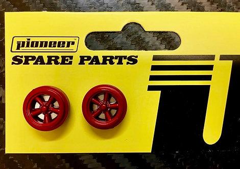 Pioneer Street Torq Thrust Front Wheels - Metallic Red