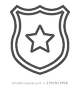 police-badge-line-icon-officer-260nw-139