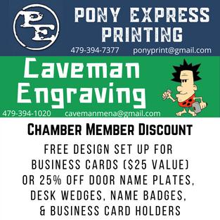 Pony Express & Caveman Engraving