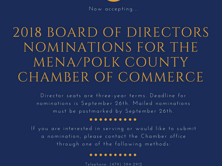 2018 Chamber of Board Nominations Closing Soon
