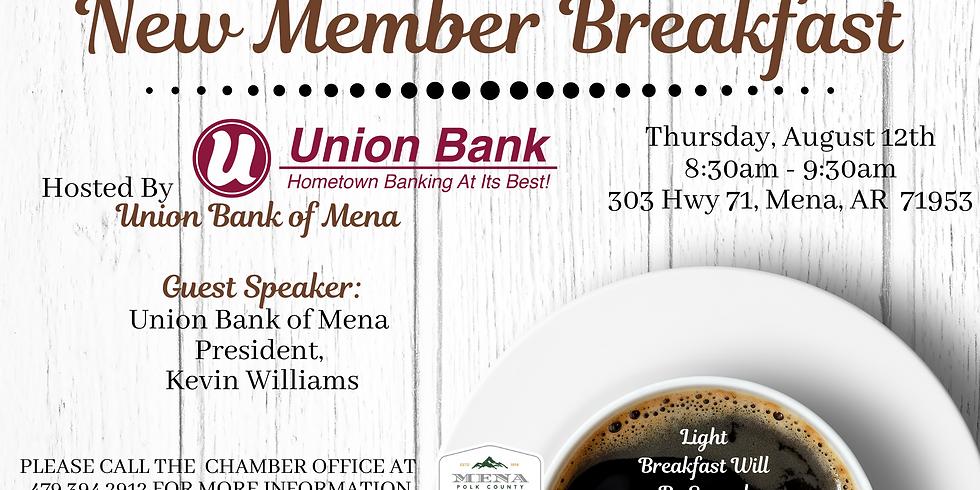 New Member Breakfast at Union Bank of Mena