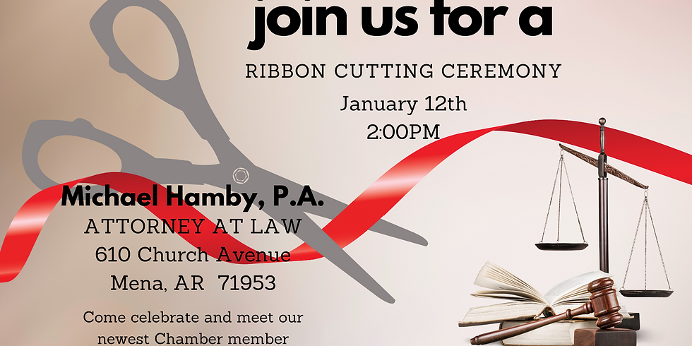 Ribbon Cutting for Michael Hamby, P.A.