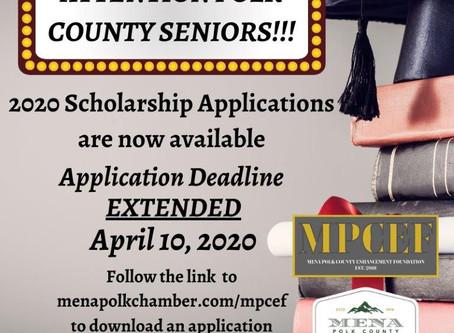 Scholarship Deadline Extended!!
