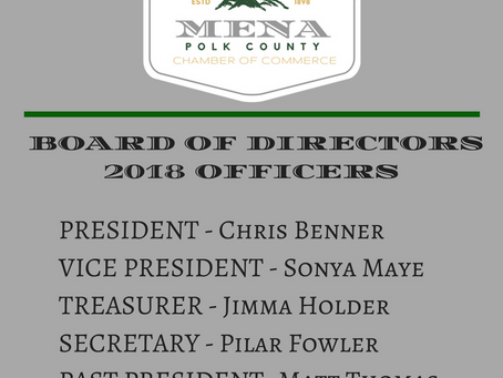 2018 Board of Directors Officers