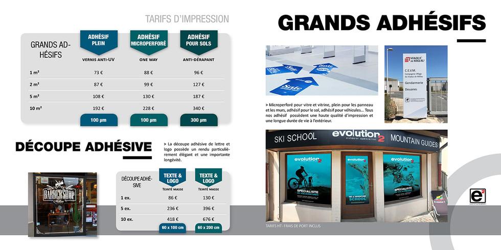 Catalogue E2COM / Grands Adhésifs
