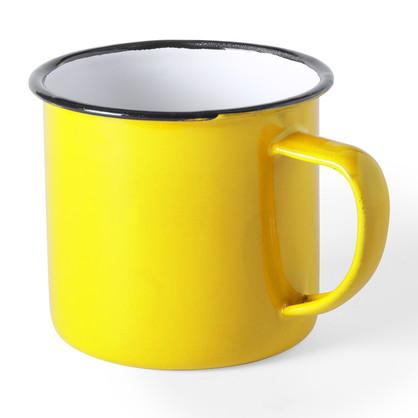 Tasse métal jaune