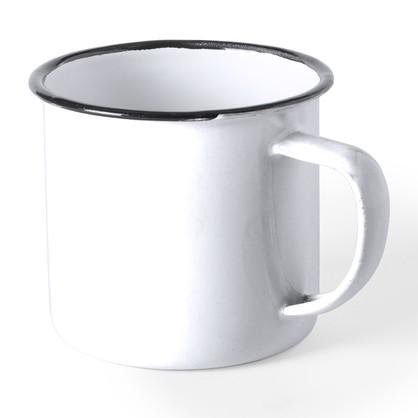 Tasse métal blanche