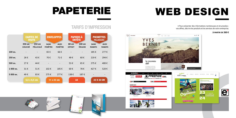 Catalogue E2COM / Papeterie & Web