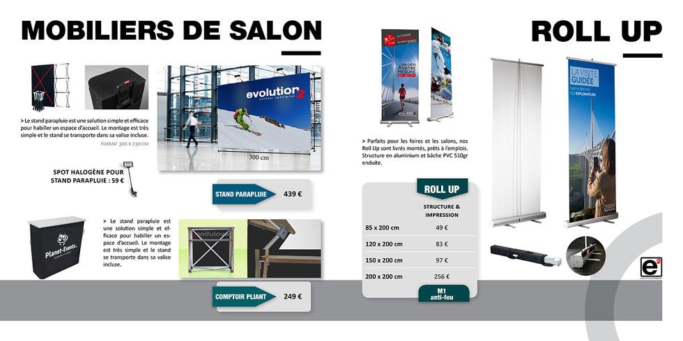 Catalogue E2COM / Roll up & mobiliers de salon