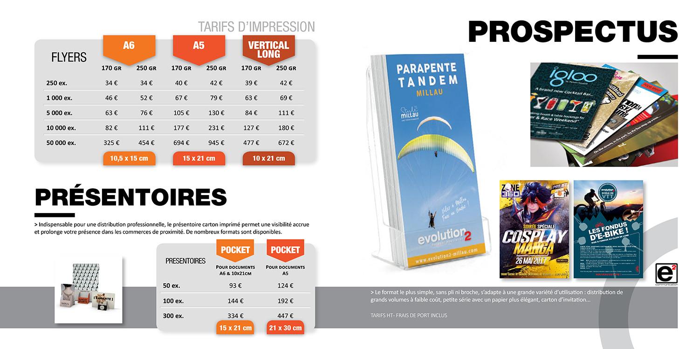 Catalogue E2COM / Flyers et présentoires