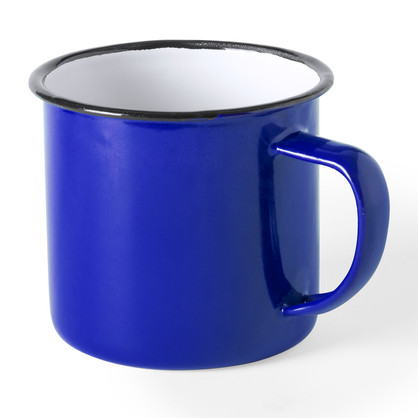 Tasse métal bleue