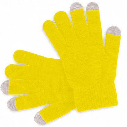 Gants jaunes personalisables