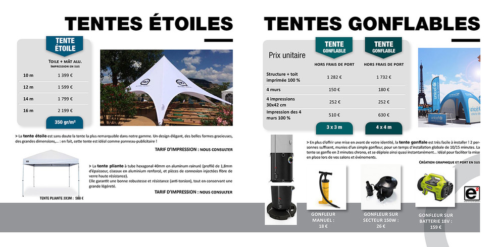 Catalogue E2COM / Tentes