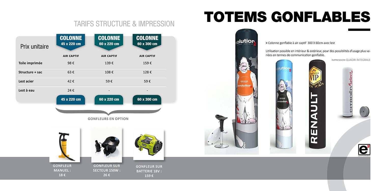 Catalogue E2COM / Totems gonflables