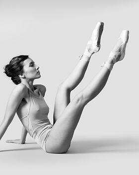 Danseur de ballet sur le plancher
