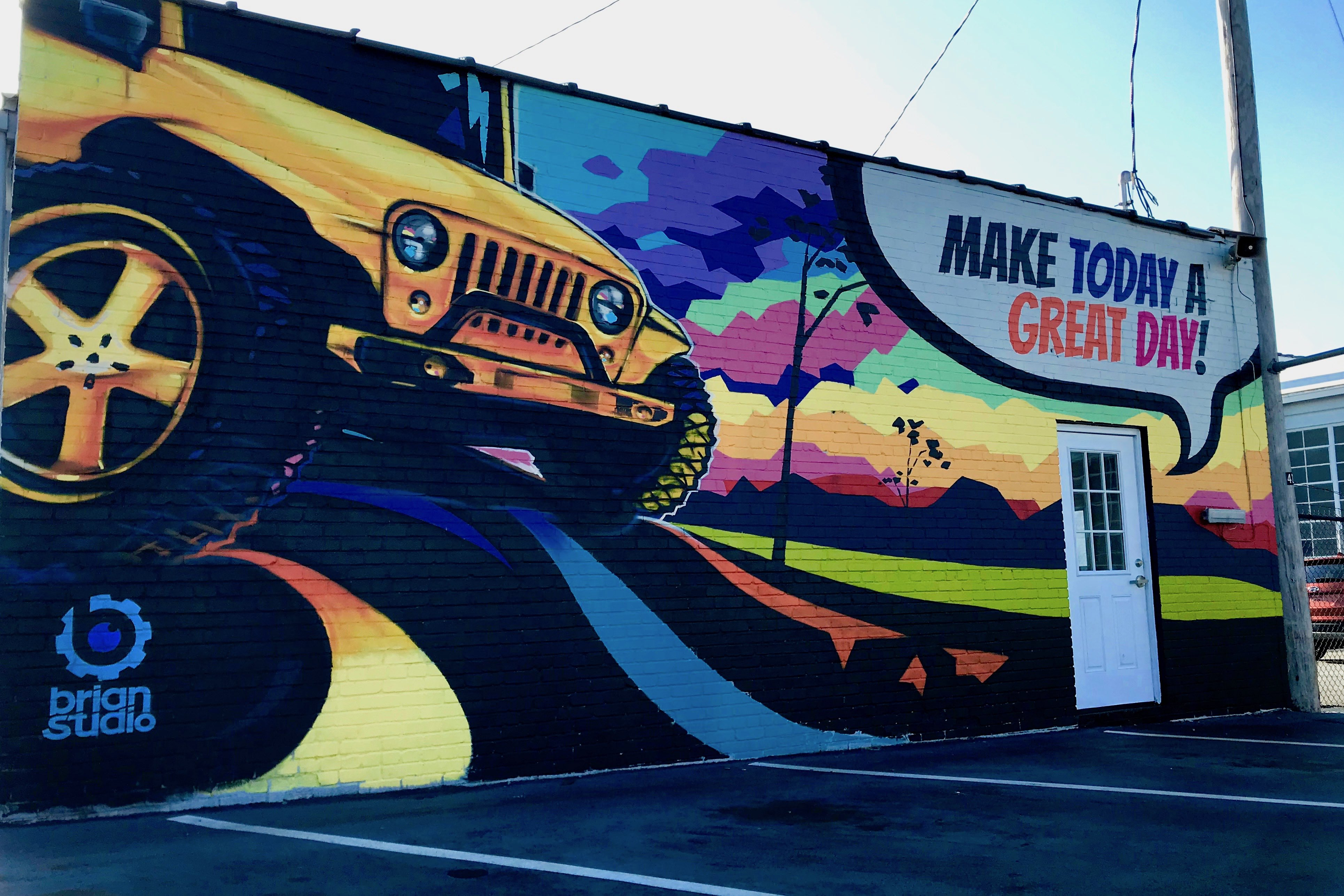 Idlerton Jeep mural