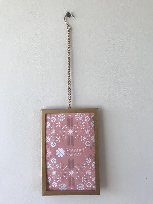 Scented Sachet Frame - Hanging - Gold (Not including sachet)