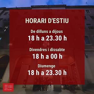 HORARI D'ESTIU 2021