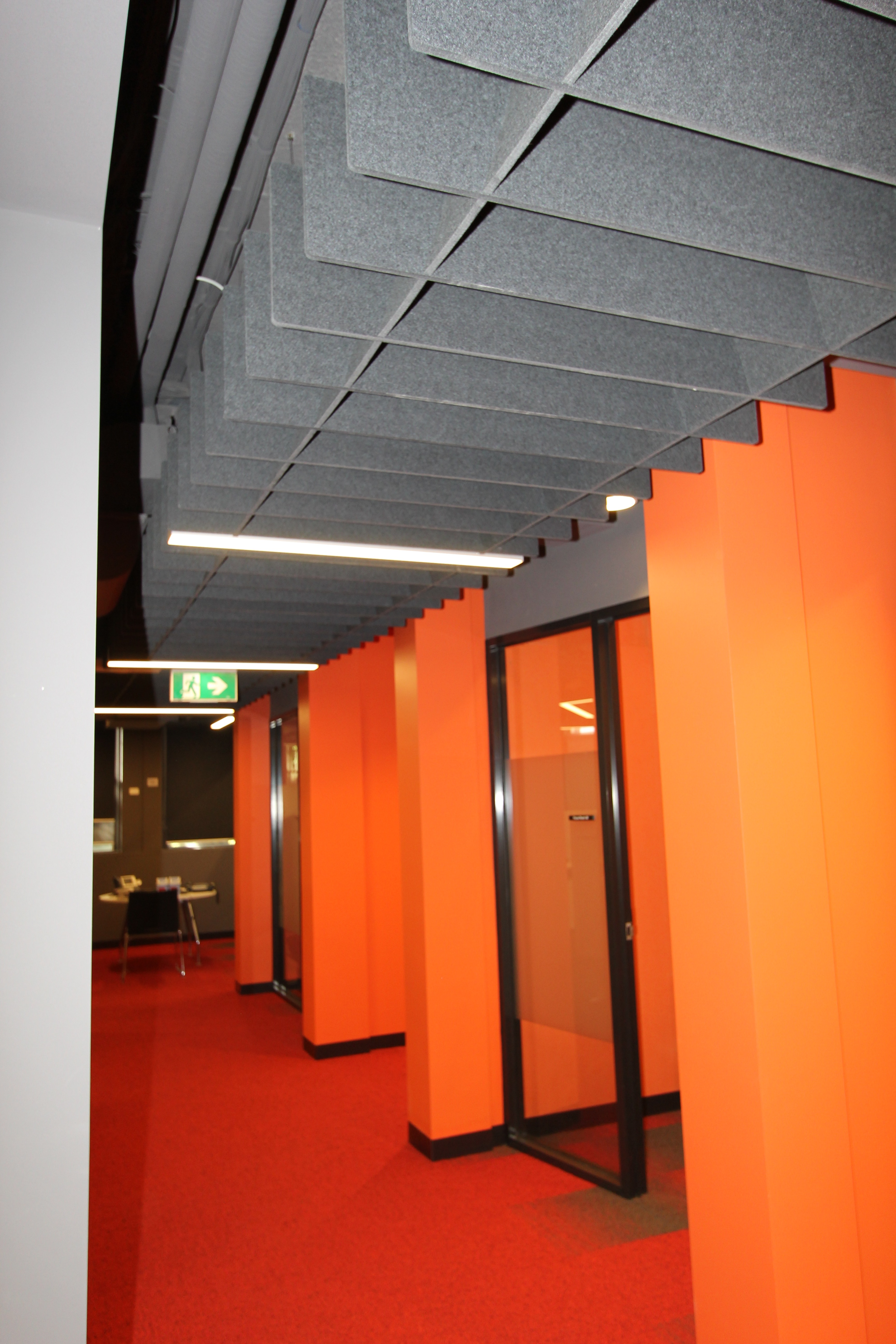 Monash University Acoustic Trapezium Ceiling Lattice