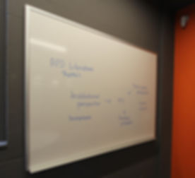 Monash Univesity Wall Mounted Whiteboard in Ultra Gloss, magnetic whiteboard with pen tray
