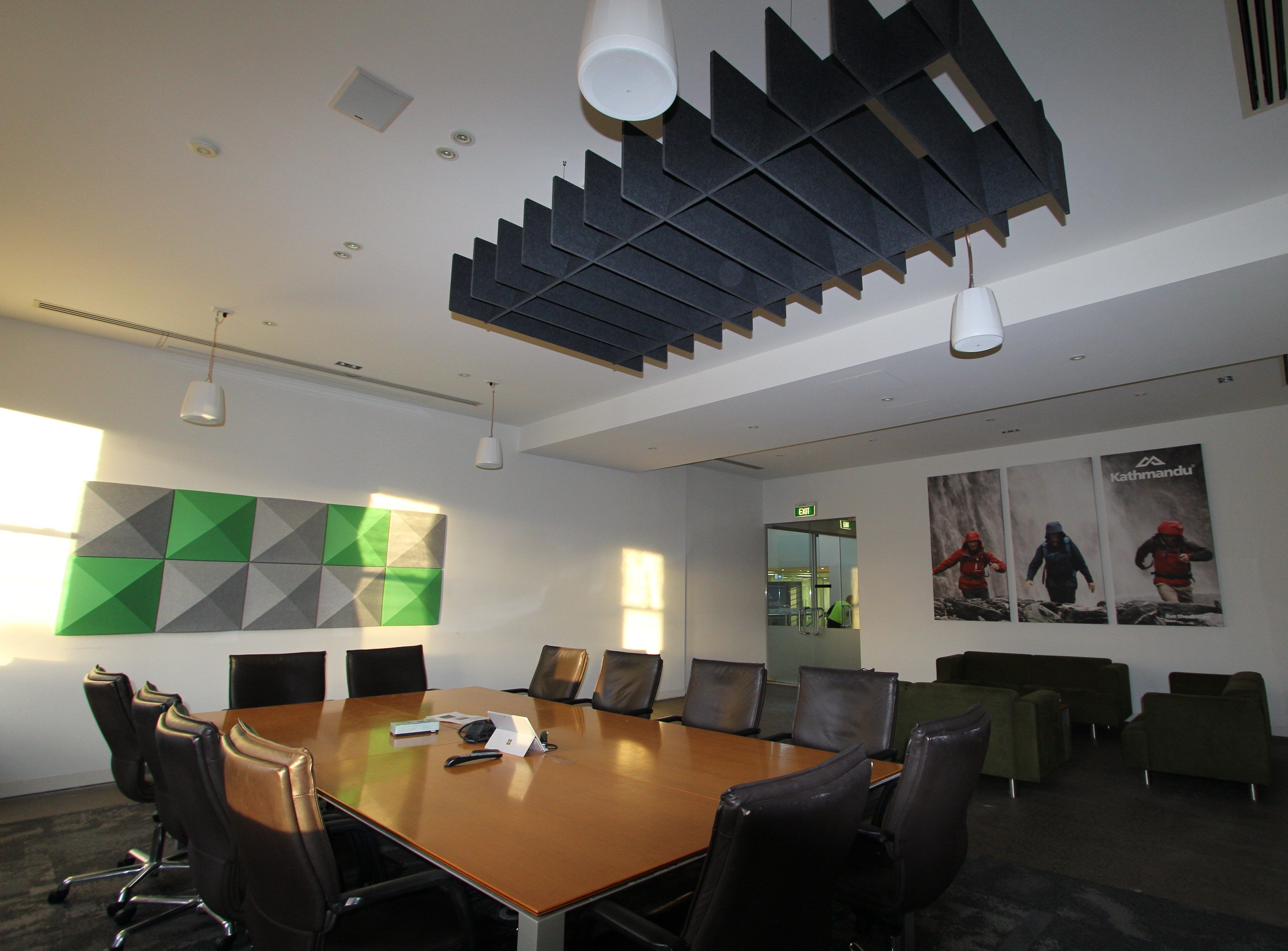Kathmandu Office - Bach Commercial Series 5 - 37 Acoustic 3D Wall Tiles and Trapezium Acoustic Ceili