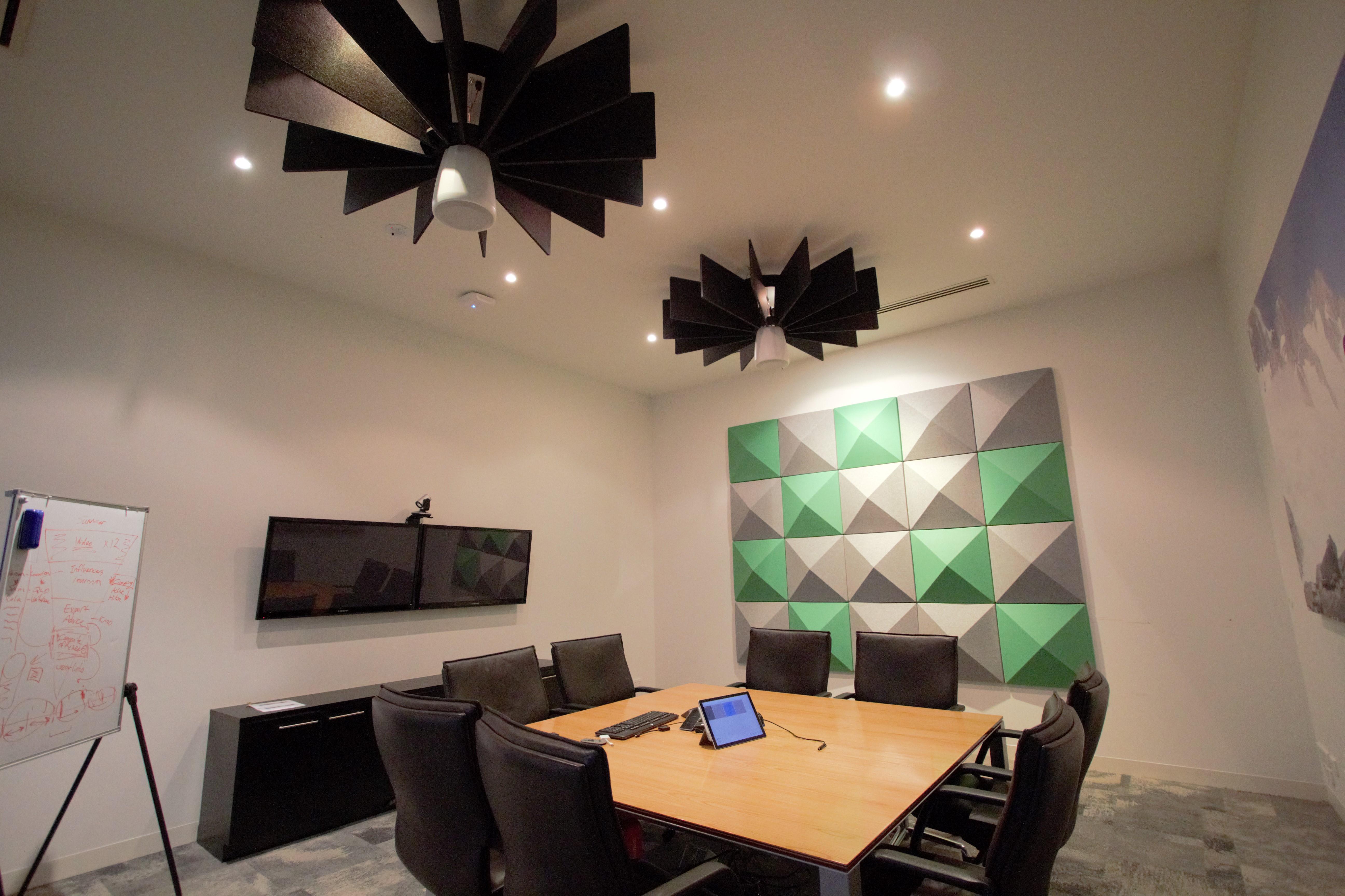 Kathmandu Office: Series 5 - 37 Acoustic 3D Wall Tiles and Torus Acoustic Ceiling Lattice