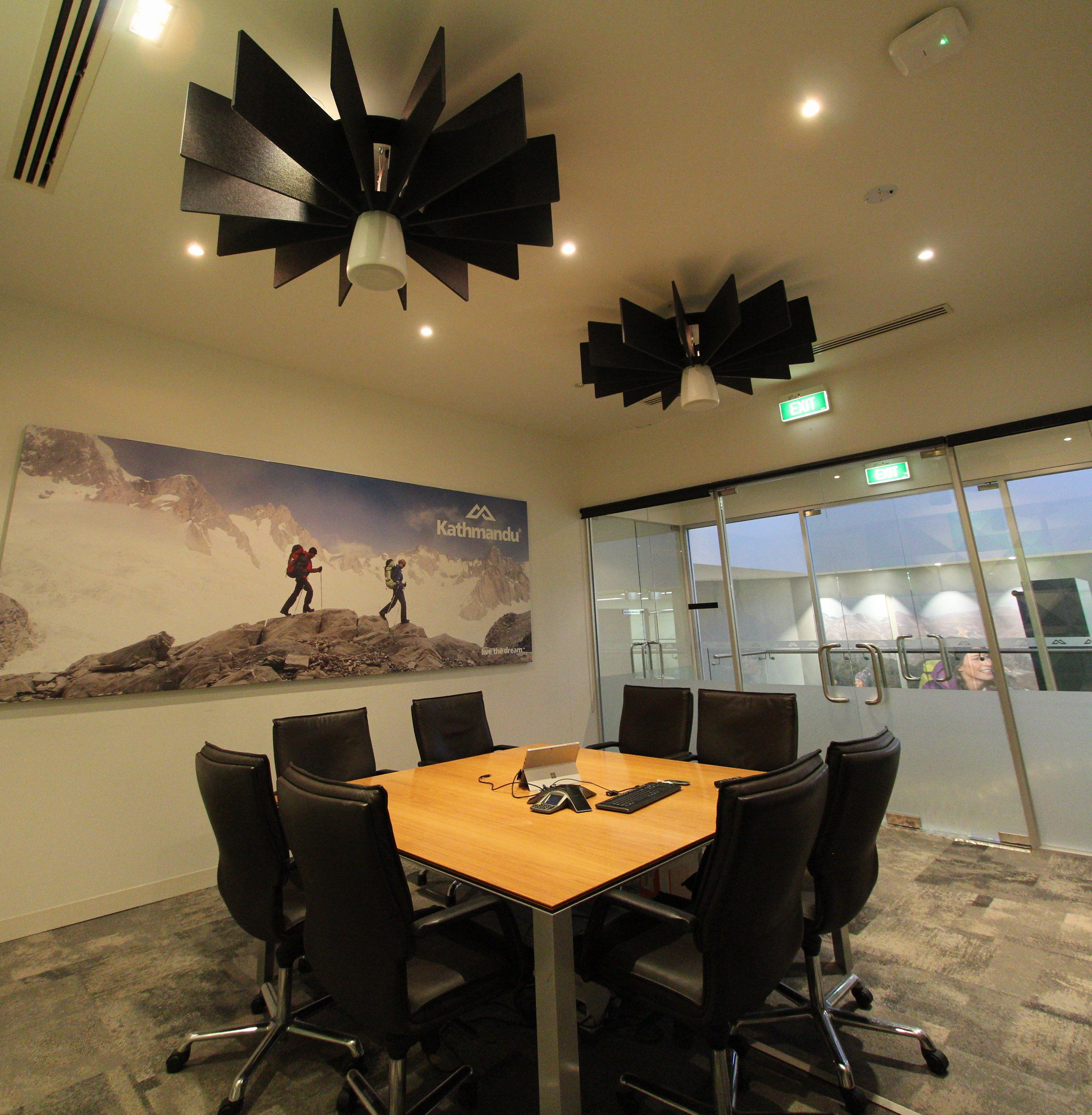 Kathmandu Office - Acoustic Torus Ceiling Lattice