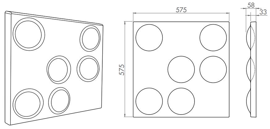 s5.34 3d acoustic tiles 3d acoustic ceil