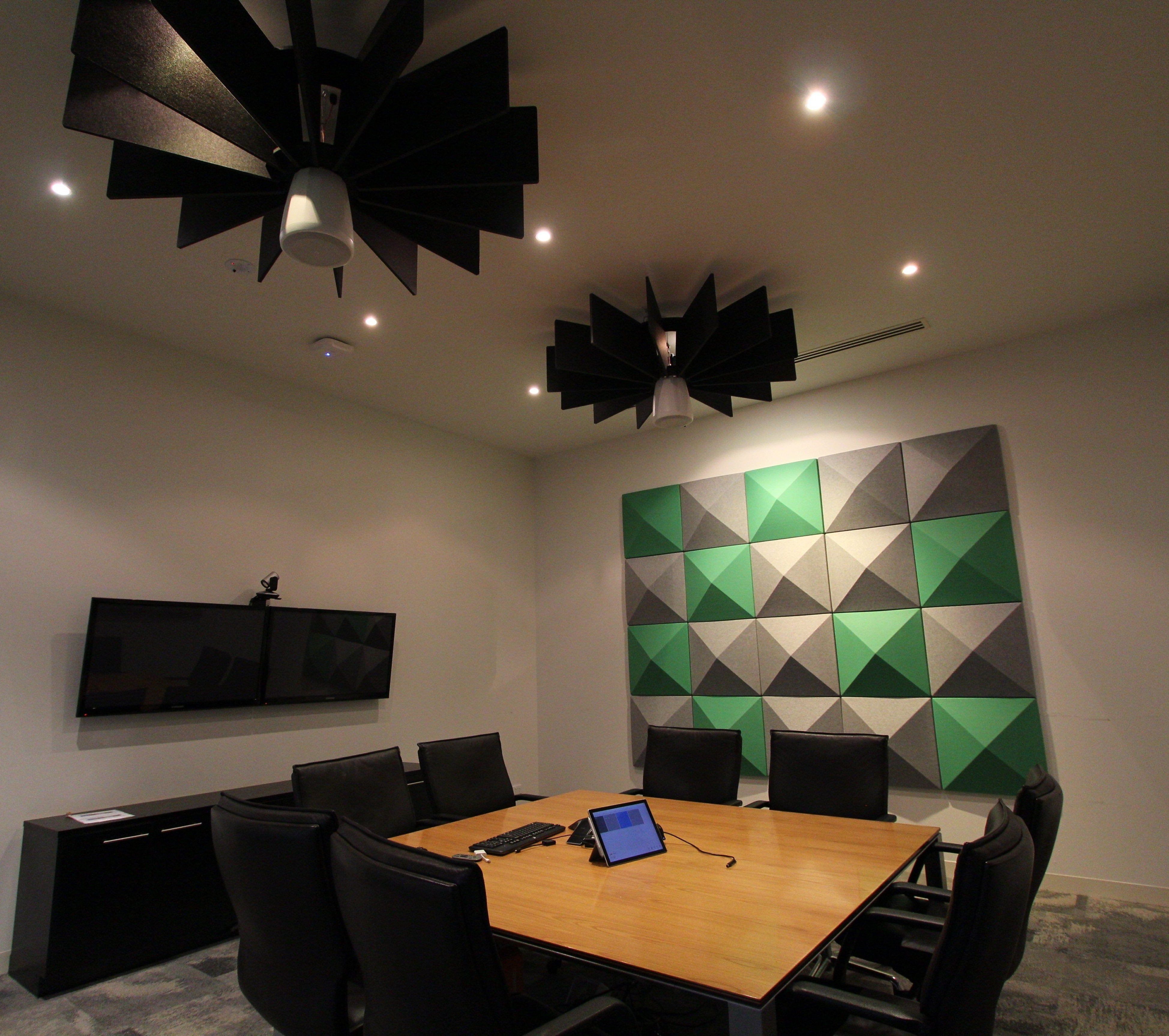 Kathmandu Office - Acoustic Torus Ceiling Lattice and 3D Wall Tiles