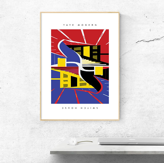 Tate Modern Switch House Illustrated Art Print