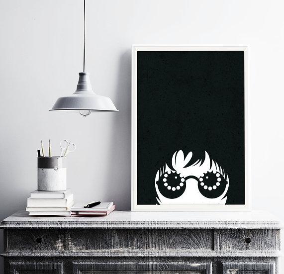 Oasis Wonderwall Illustrated Art Print