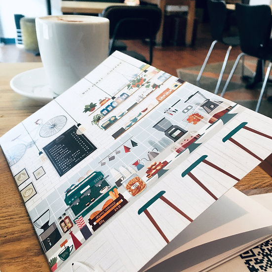London Coffee Shop Light Notebooks. A5, 48 pages