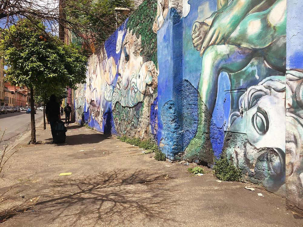 Street art in Ostiense Rome