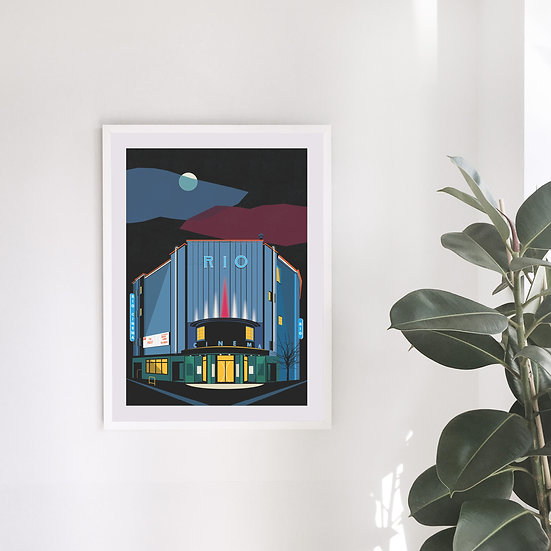 Rio Cinema Illustrated Art Print