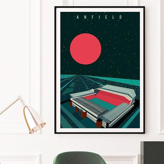 Liverpool FC Anfield Stadium Art Print Poster