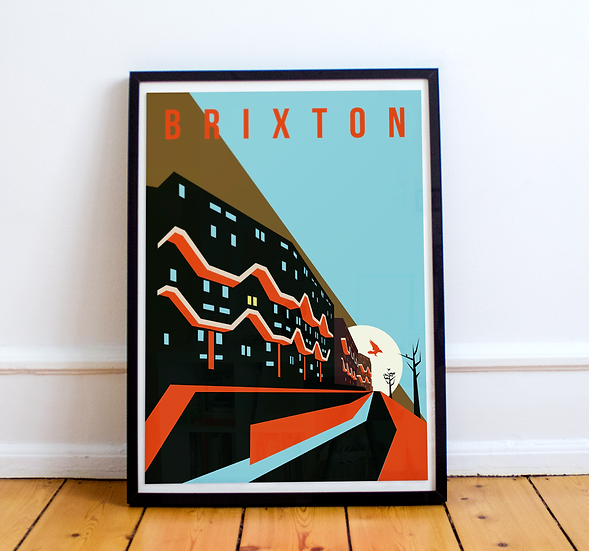 Brixton Art Print of Southwyck House