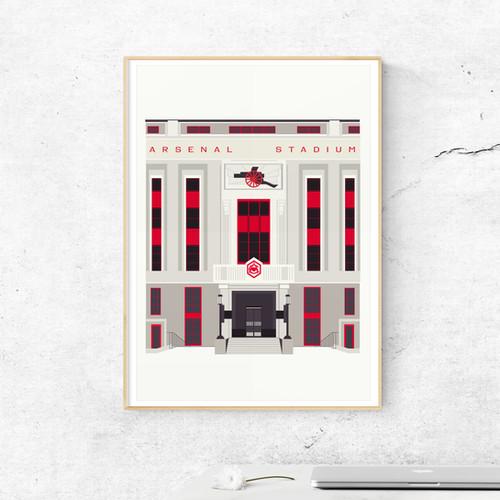 Arsenal Stadium Art Print