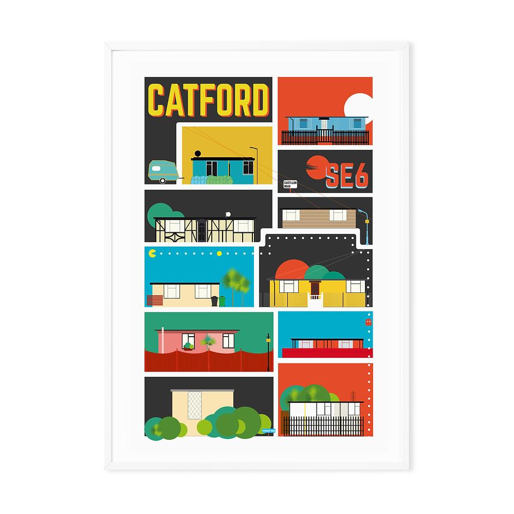 Catford a Prefab Maze Art Print