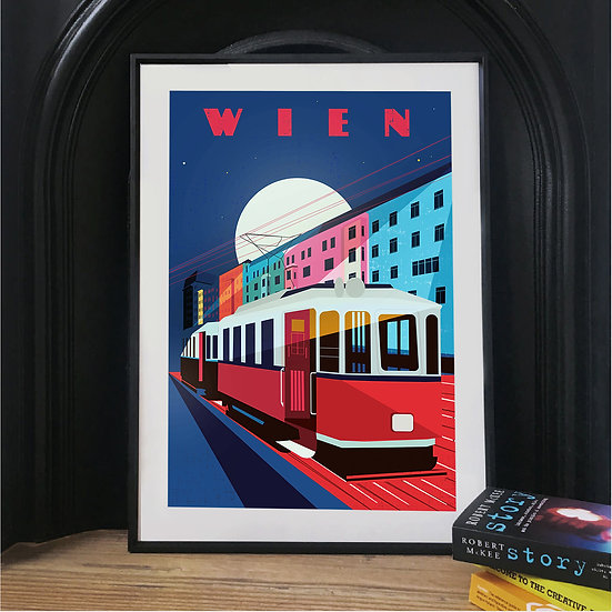 Wien Vienna Illustrated Art Print