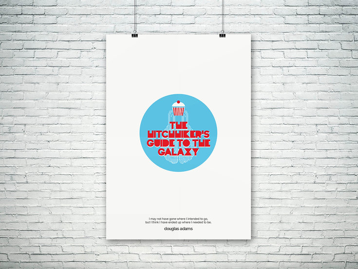 'The Hitchhiker's Guide to the Galaxy' Art Print