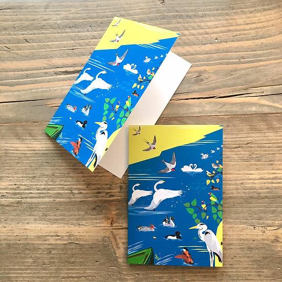 Birds of London Christmas Greeting Cards