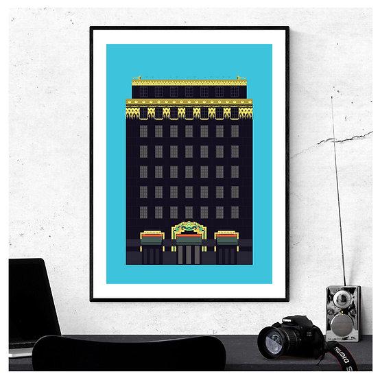 Ideal House Palladium House Art Print