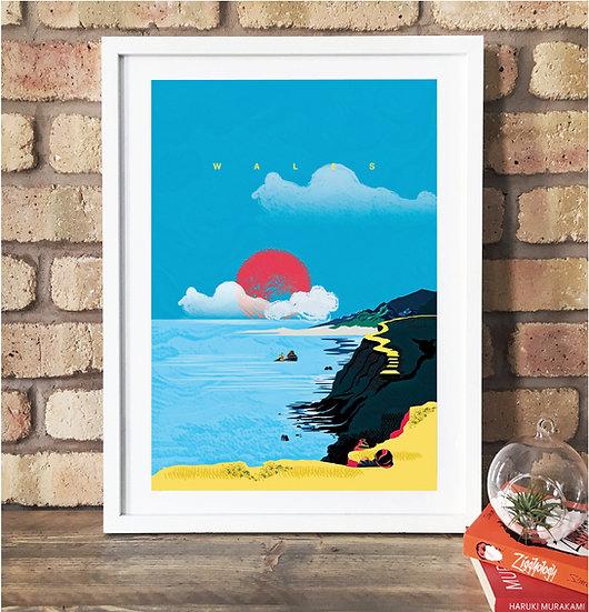 Wales Art Print Poster