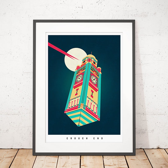 Crouch End Illustrated Art Print