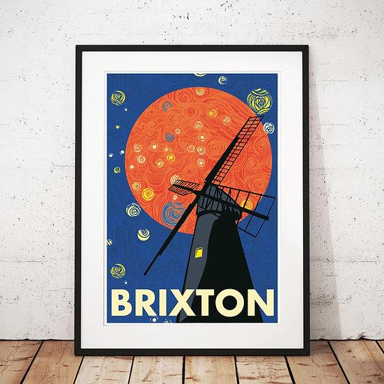 The Brixton Windmill Art Print | Eye for London Prints