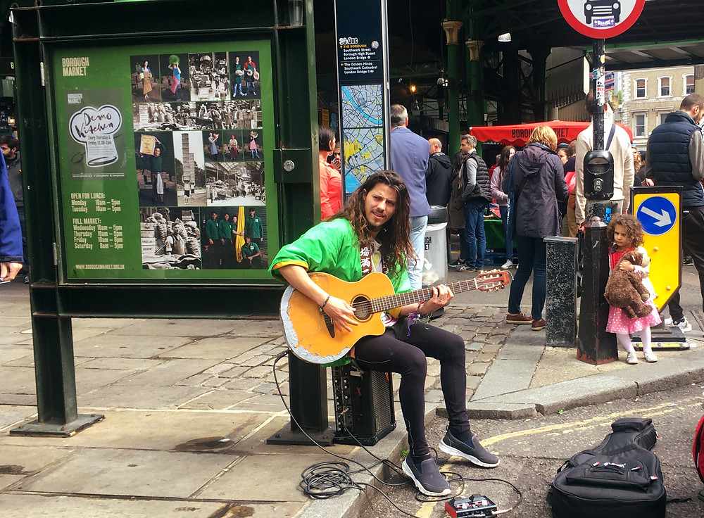 Busker in Borough Market